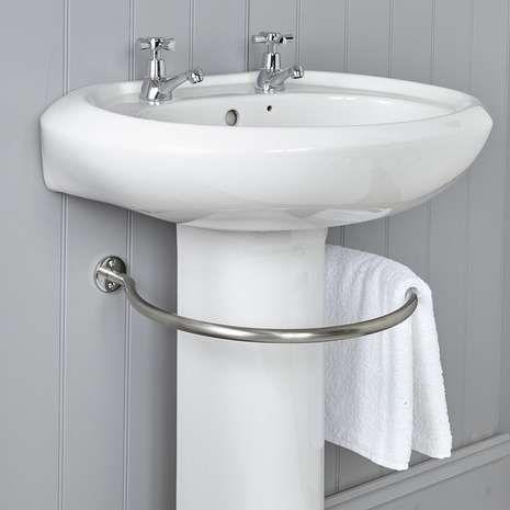 Circular Undersink Towel Rail Dunelm Towel Rail Diy Towel Rails Towel Ring Bathroom