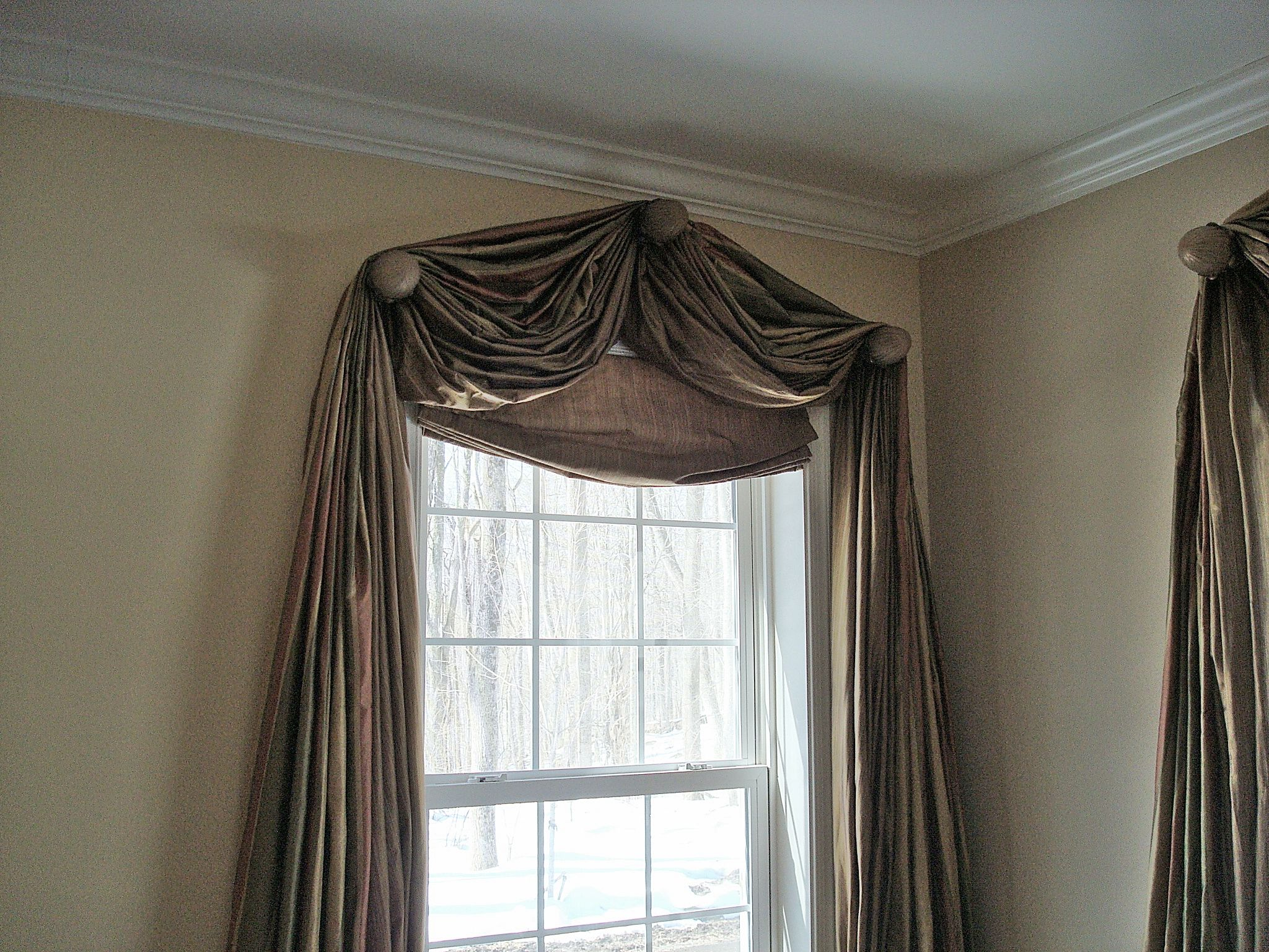 window toppers custom curtain rods