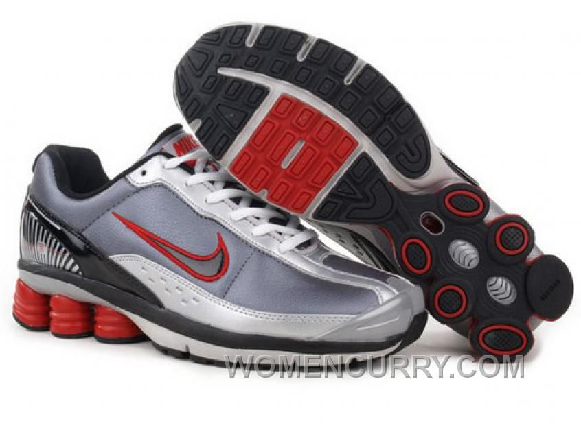 Shop Men's Nike Shox Shoes Grey/White/Black/Red Lastest black, grey, blue  and more.
