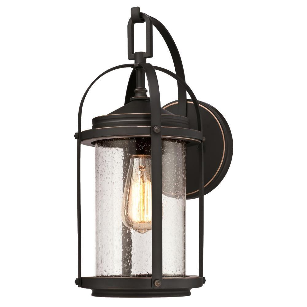 Grandview 1 Light Oil Rubbed Bronze With Highlights Outdoor Wall Mount Lantern Wall Mount Lantern Outdoor Wall Sconce Bronze Outdoor Lighting