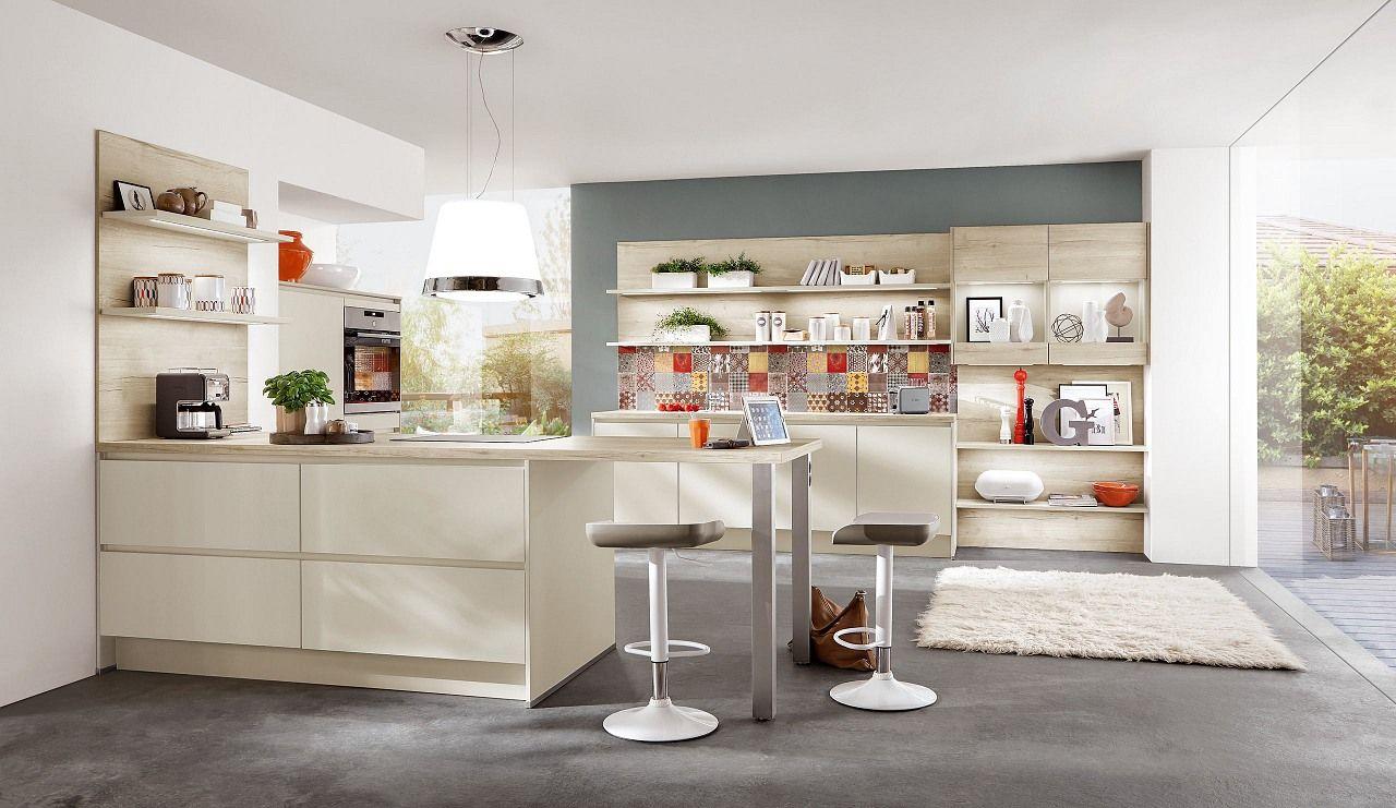 Mediterranen Küche norina3317 einbauküche savanne grifflos küche mulsum