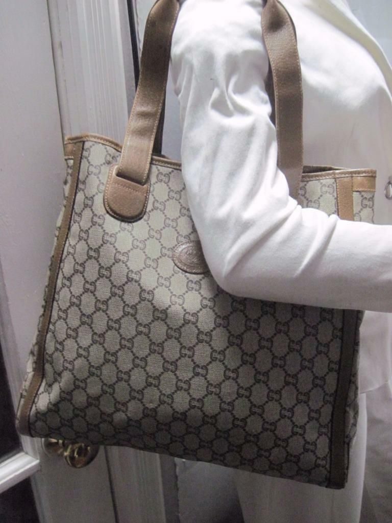 e23f6f1d804d #FORSALE AUTHENTIC XL GUCCI PVC TOTE LAPTOP MULTIFUNCTION BAG - $142