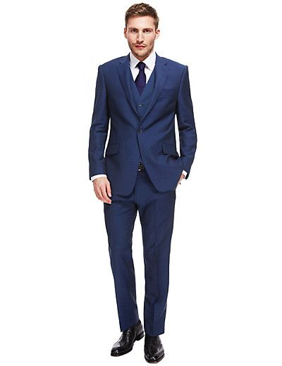 105fea3a892 Wool Rich 1 Button Suit with Mohair Including Waistcoat Sets Buy Mens Suits