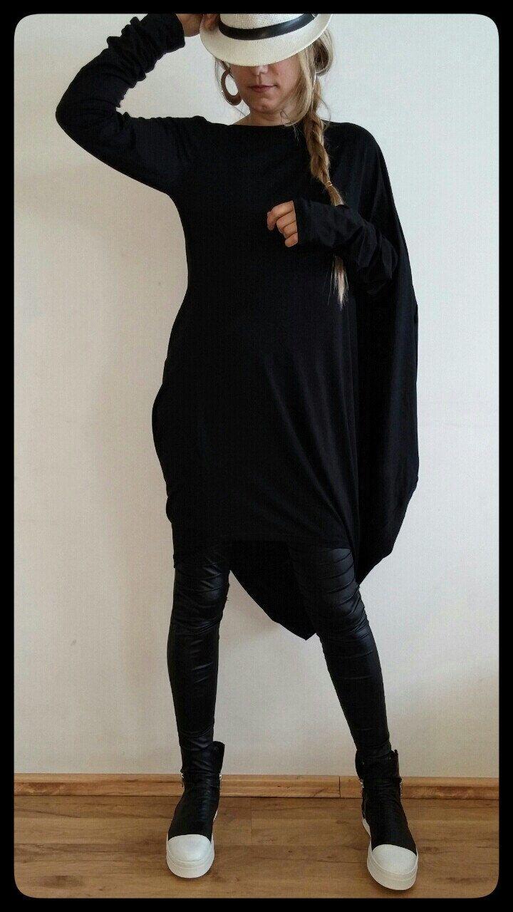Black Extravagant Tunic Dress / Maxi Day Tunic / Asymmetrical Plus Size Dress / Over Size Tunic by shopMyJ on Etsy https://www.etsy.com/uk/listing/232047798/black-extravagant-tunic-dress-maxi-day
