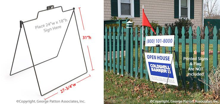 24 x 18 Real Estate Signs with Sign Rider Holder, A-frame Style ...