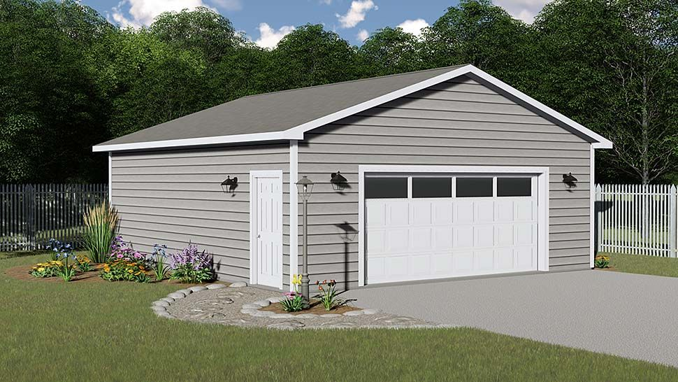 2 Car Garage Plan Number 50628 in 2020 Garage plan, 2
