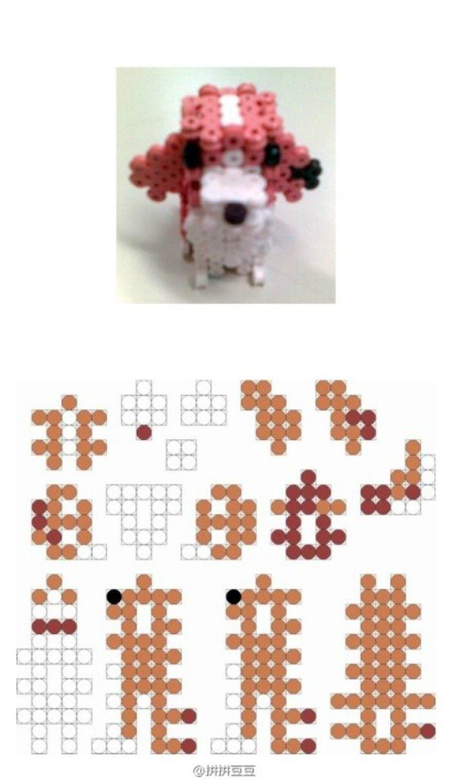 最近好多小伙伴都在晒这几只立体拼豆小狗 根据水印找到了这位叫做alfons05的大神 在他个人主页里面分享了许多小立体拼豆的分解图…