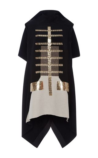 Mixed Material Tunic With Sequin Embroidery by RICK OWENS Now Available on Moda Operandi
