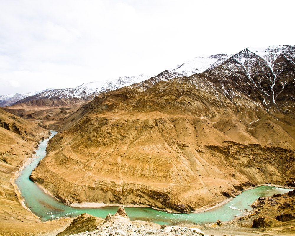 Zanskar river kashmir india scenic art scenic design