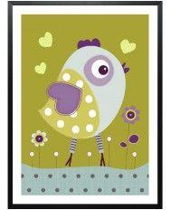 Lovely Bird-Poster gerahmt