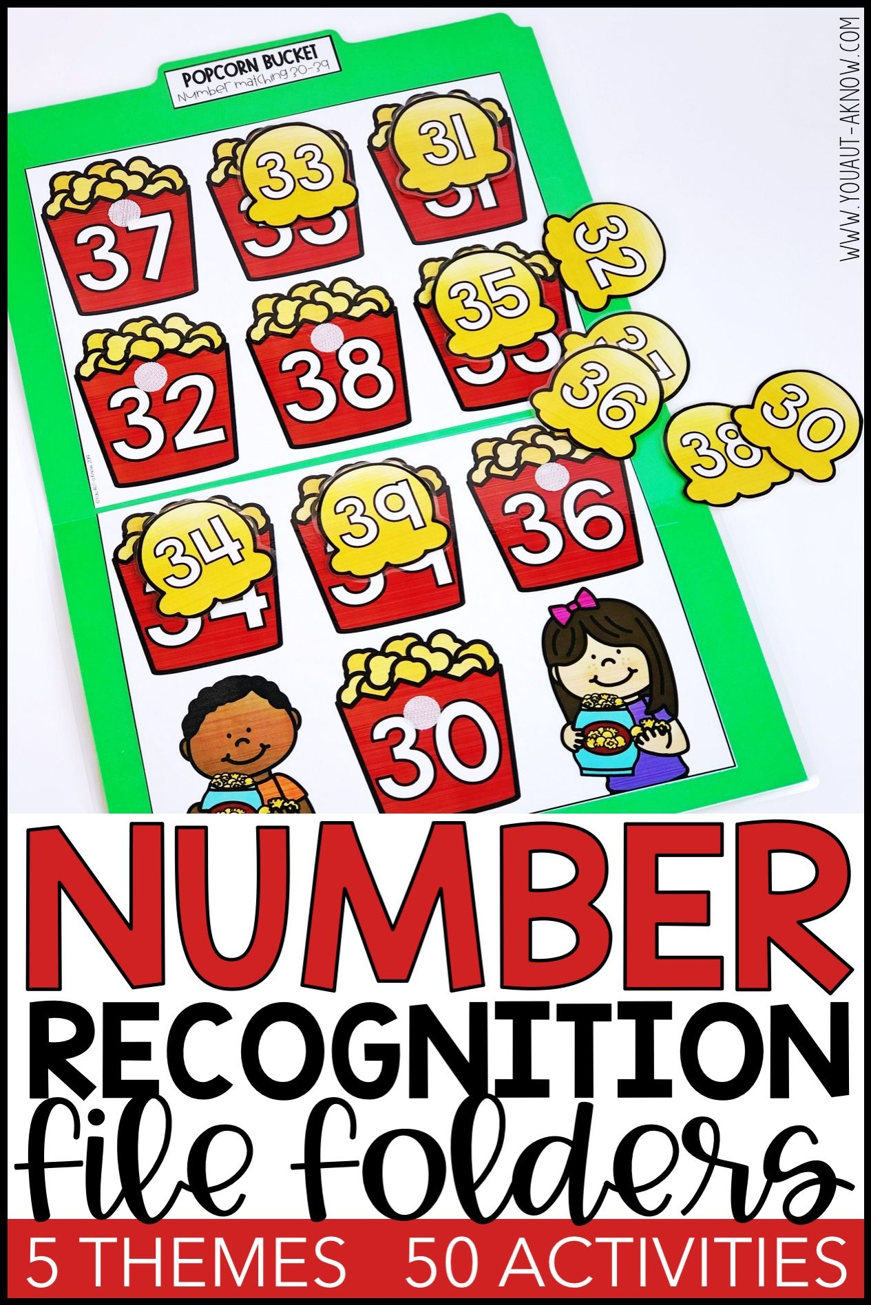 Number Recognition Activities Number File Folders For