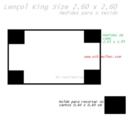 121175a9e6 Moldes para fazer Lençol de malha com elástico (Várias Medidas ...