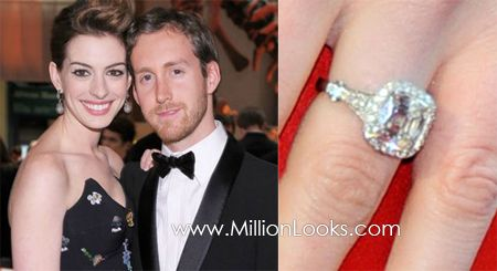 Anne Hathaways engagement ring Celebrity Engagement Rings