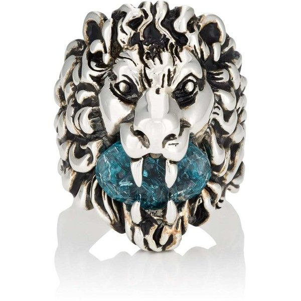 057d5f095 Gucci Men's Lion Head Ring ($430) ❤ liked on Polyvore featuring men's  fashion, men's jewelry, men's rings, silver, mens lion head ring, gucci  mens ring, ...