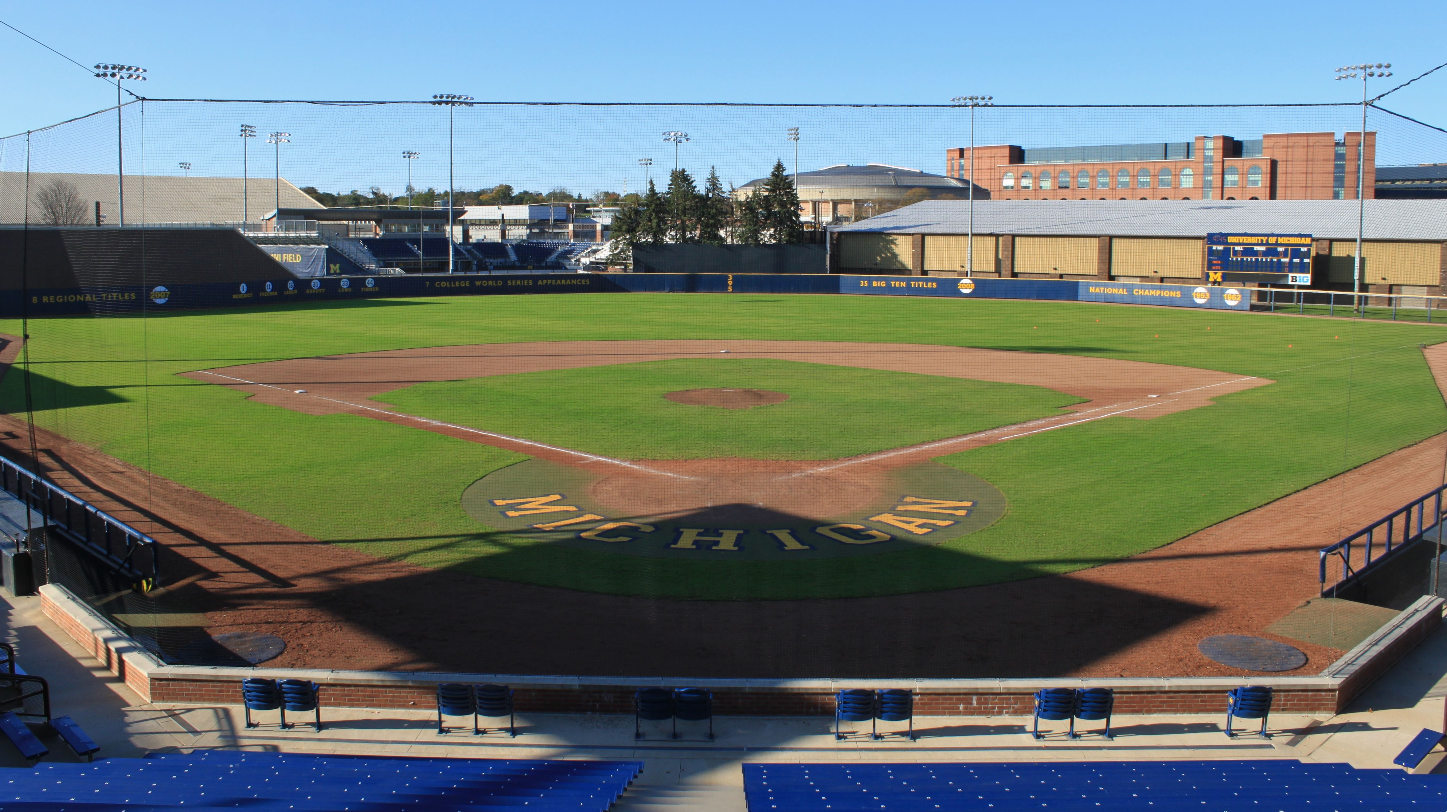Michigan Wolverines Ray Fisher Stadium In Ann Arbor Baseball Stadium University Of Michigan Baseball Baseball