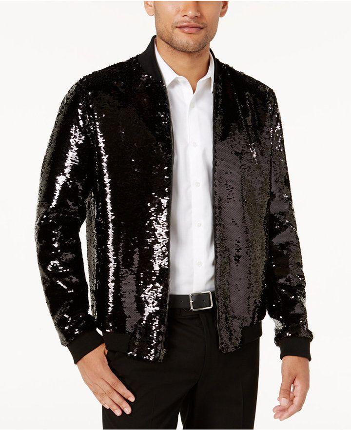 1281a85c555 INC International Concepts Men s Sequin Bomber Jacket