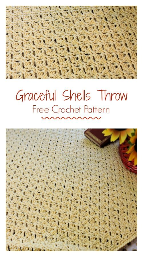 Graceful Shells Throw Free Crochet Pattern | Afghans | Pinterest ...