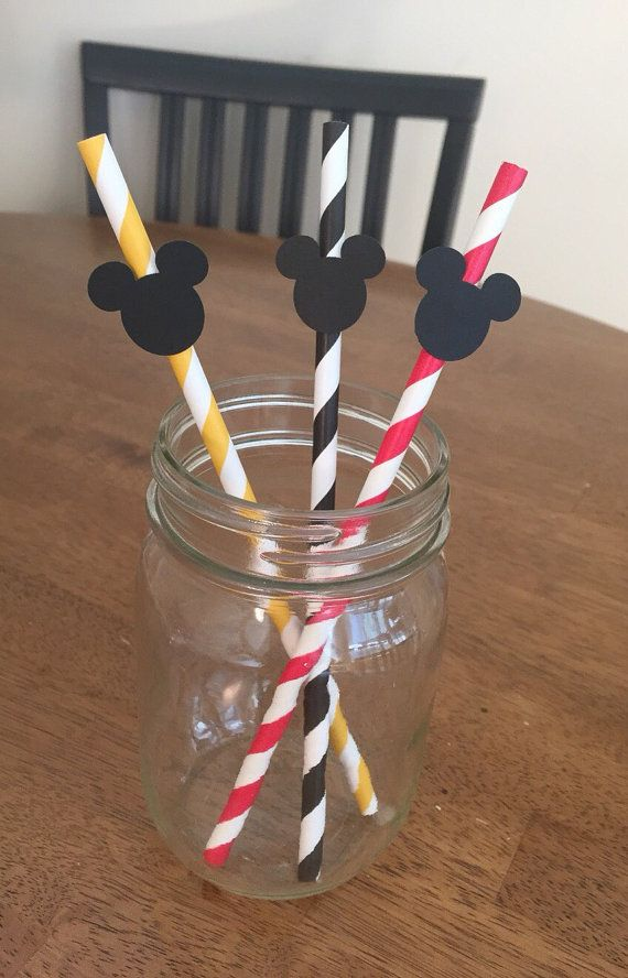 Mickey Mouse Straws Mickey Mouse Party Supplies by DM3PartyDesigns