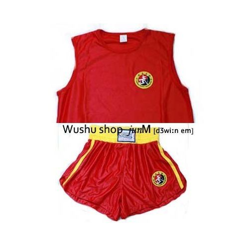 Jiu Ri Shan Wushu KungFu Sanda uniforms trunk Uniform Boxing China Kung Fu BLACK