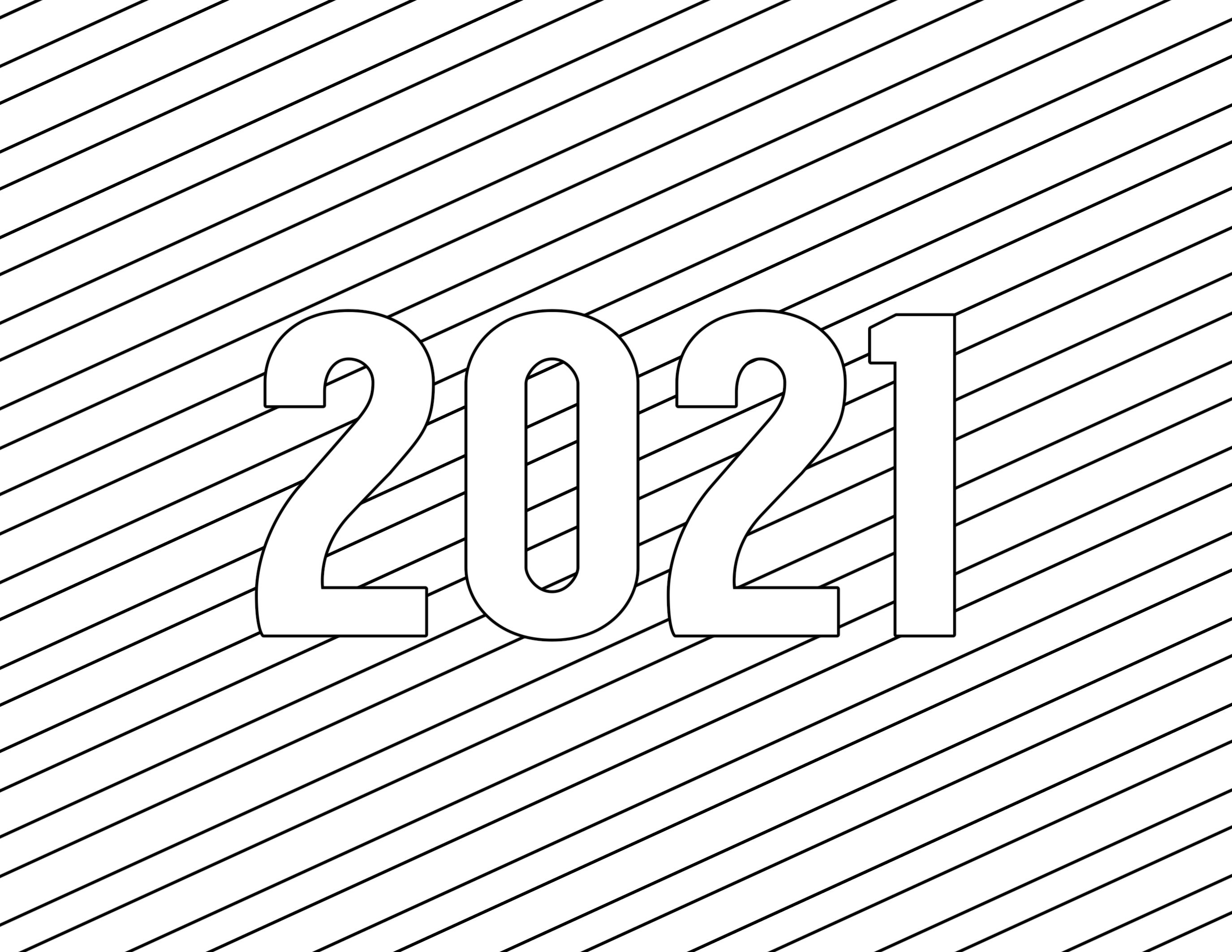 Coloring Pages 2021 In 2020 New Year Coloring Pages Printable Coloring Pages Coloring Pages For Kids