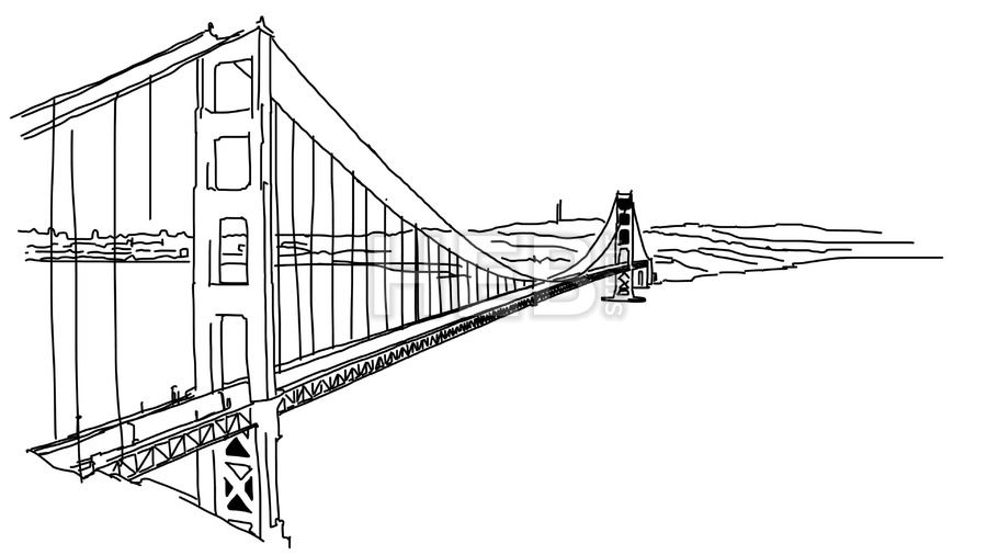 Golden Gate Bridge Outline Animation How To Draw Hands Golden