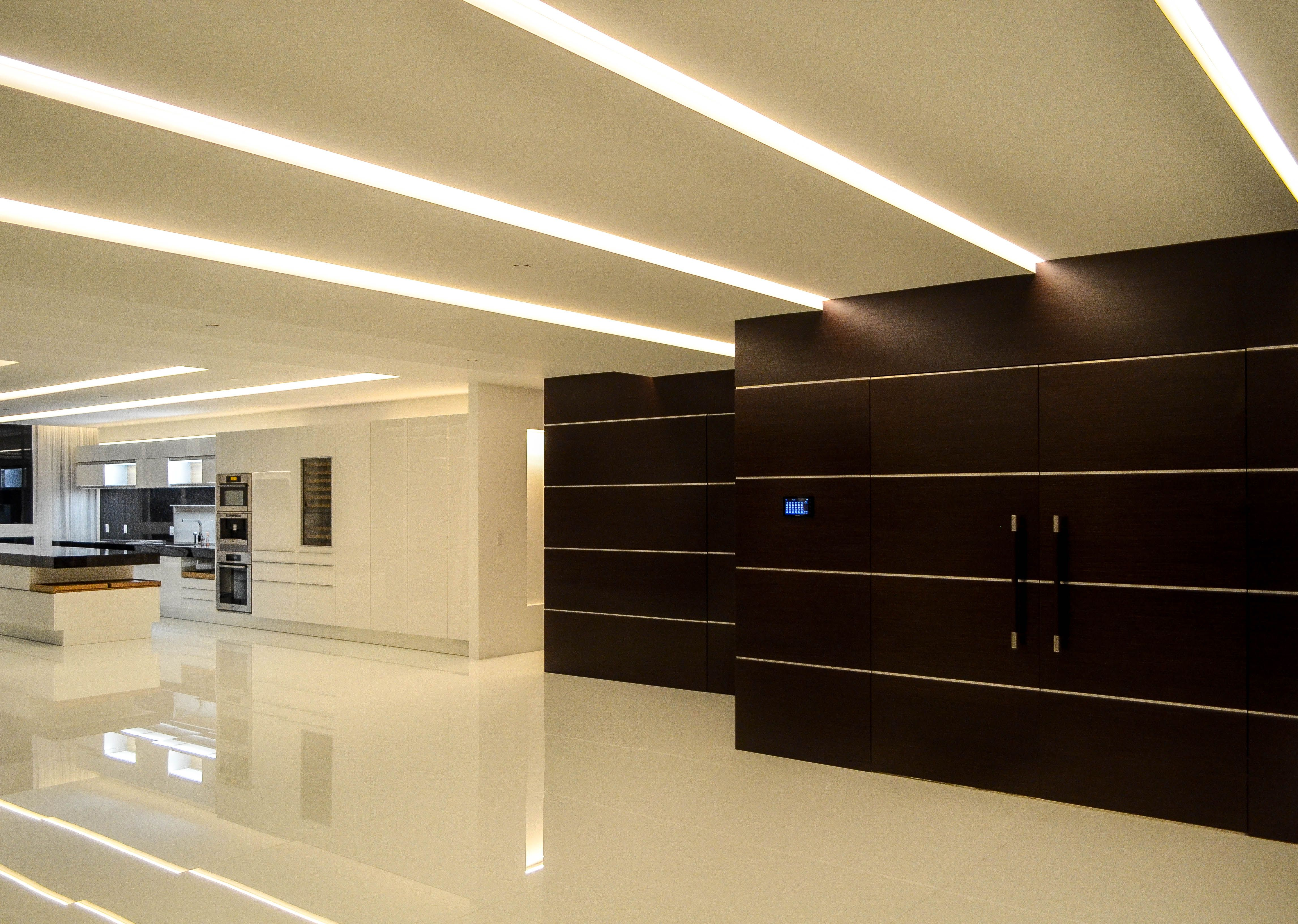 Living Room / LED / Ceiling / Contemporary / Design / Wood Panels ...