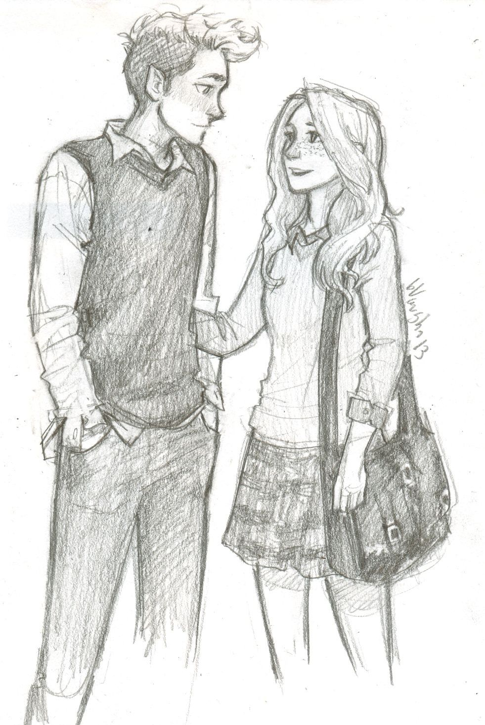Images Of Ask Tumblr Cizim Rock Cafe Boy And Girl Sketch
