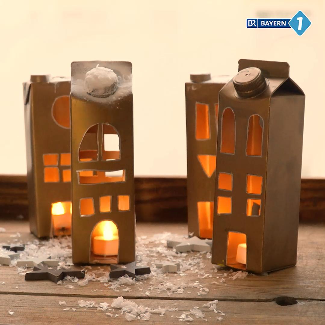 Laterne aus Tetra Pak basteln #herbstfensterdekokinder