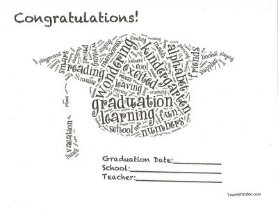 Very cute kindergarten graduation certificate at teachwithme - graduation certificate