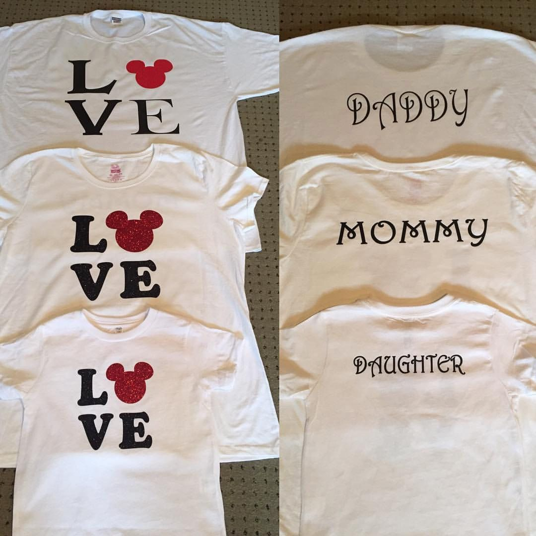 Mickey Love shirt. Daughter/Son /Mommy /Daddy Disney vacation T ...