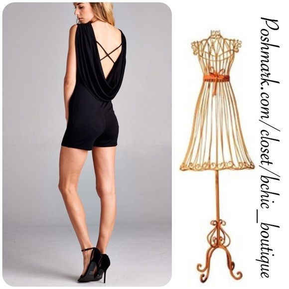 Must Have! Sexy Open Back Romper This is a wardrobe must have! Dressy Open Back Romper! Perfect for any occasion day or night. Super soft material   95% Rayon 5% Spandex   True to size  Made in USA April Spirit Pants Jumpsuits & Rompers