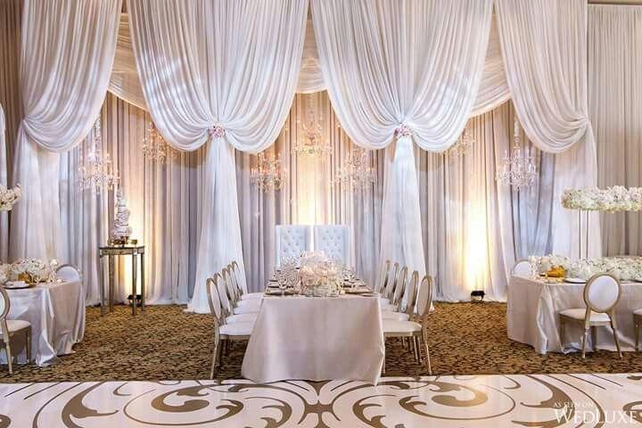 Beautiful Wedding Reception Wall Draping White Draping Wedding Draping Beautiful Wedding Reception Wedding Reception Decorations