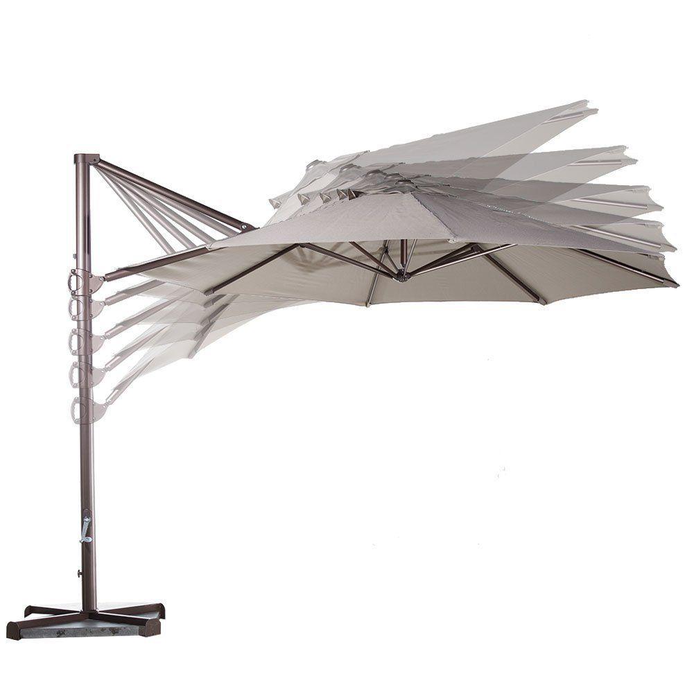 Abba Olefin Cantilever Tilt Crank Outdoor Patio Umbrella