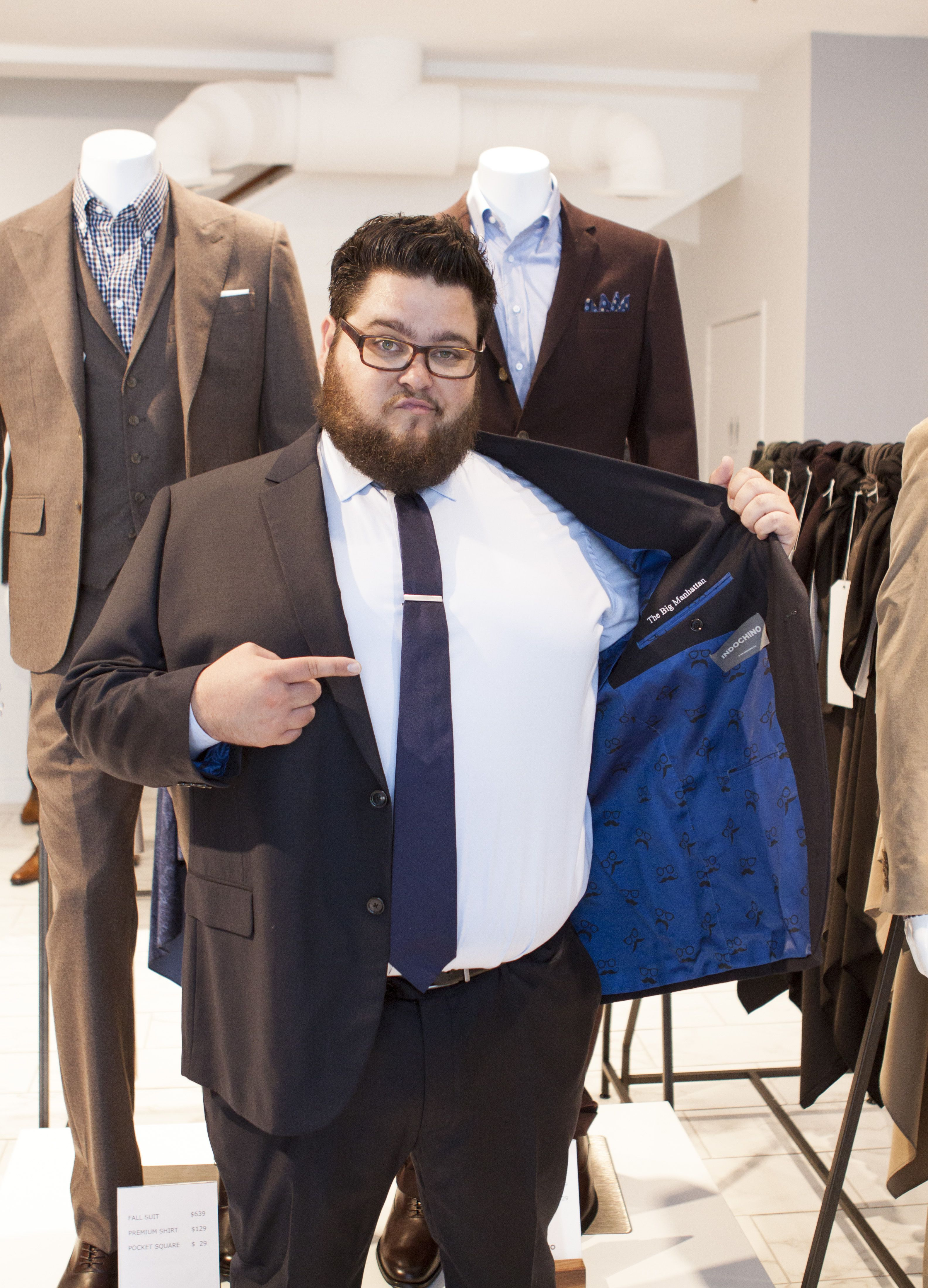 We head to the new Indochino showroom in L.A. to chat with Charley Koontz about fashion, CSI: Cyber, body positivity, and being a good-looking big dude in Hollywood. Read the interview and see more photos: http://chubstr.com/2015/entertainment/charley-koontzs-style-renaissance/