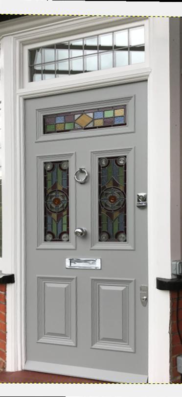 Light Grey Period Front Door Installed In North London Period