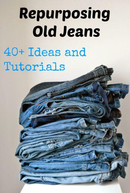 Repurposing Old Jeans 40 Ideas And Tutorials Denim