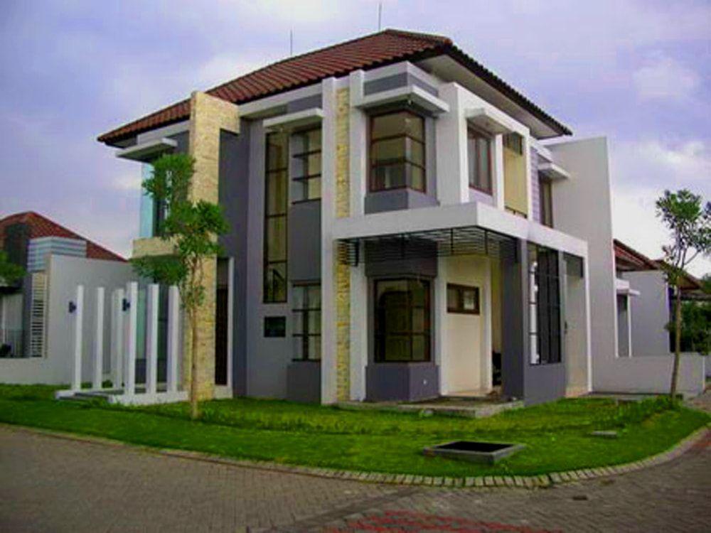 Gambar Contoh Rumah Minimalis Cluster  desain rumah minimalis modern 2 lantai 5 propertypandawa com