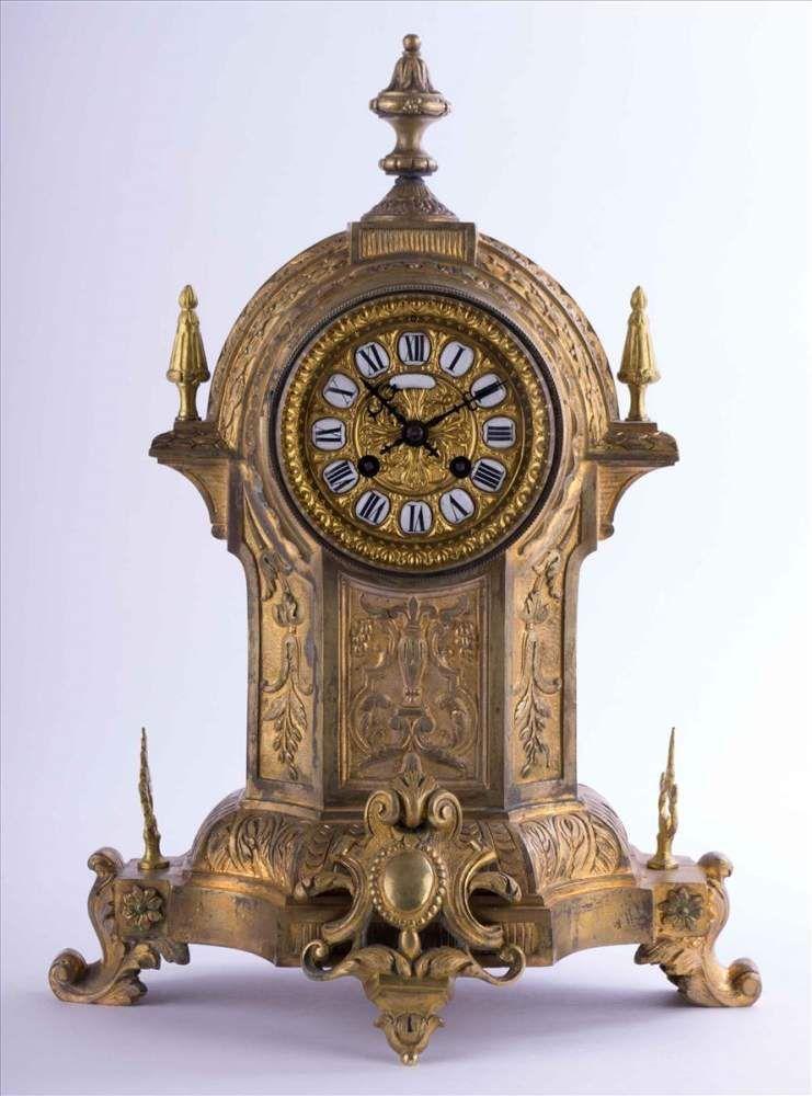 Französische Kaminpendule Um 1860 / French Mantel Pendulum Clock, About  1860 Gehäuse Ist Bronze Ve