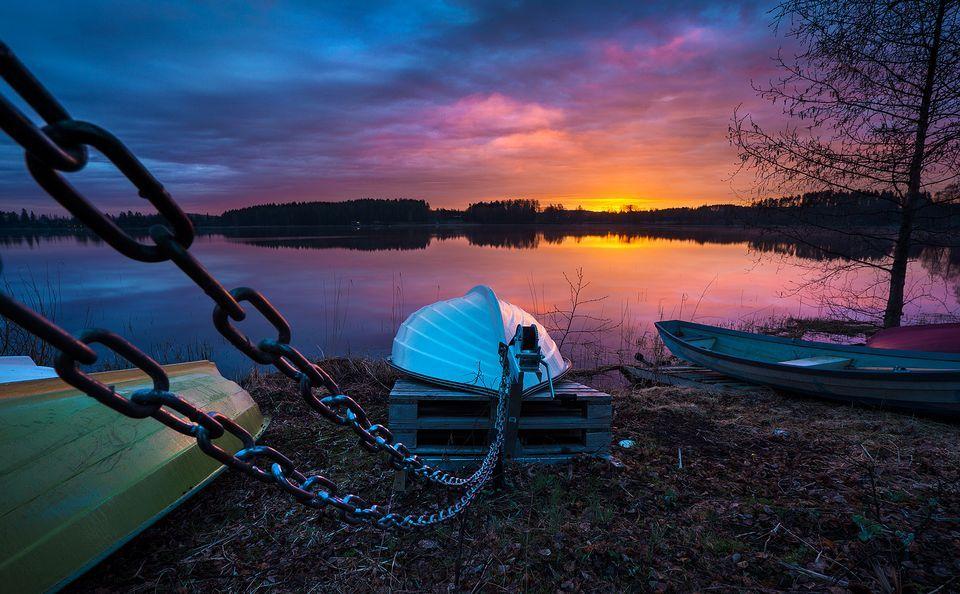Sunrise early in the morning, Jyväskylä, Finland, by Mehmet Eralp