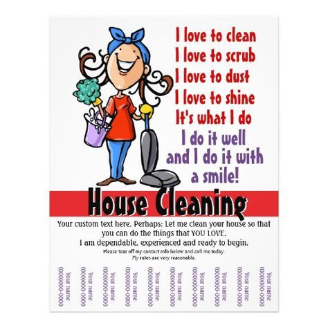 House Cleaner Promotional Flyer  Cleaning Ideas