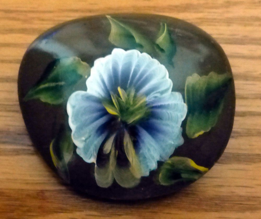 Hand+Painted+Pansy+Rock+By+CarmineO+