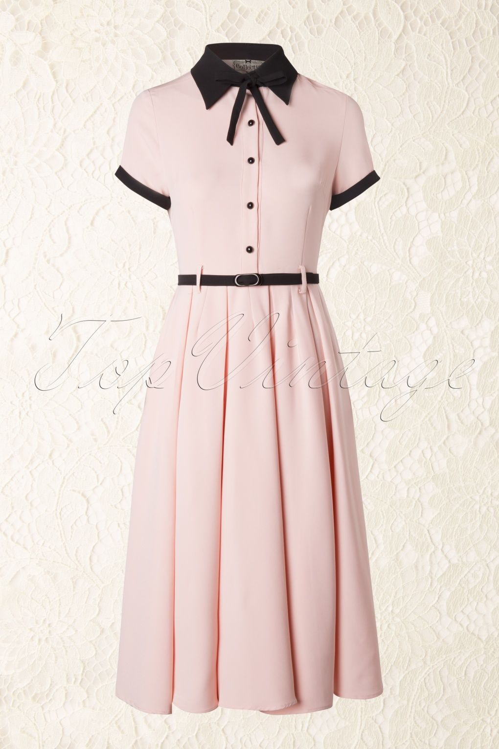 e6680f50b Collectif Clothing - 50s Cynthia Doll Dress in Pink Vintage Dresses 50s,  Old Dresses,
