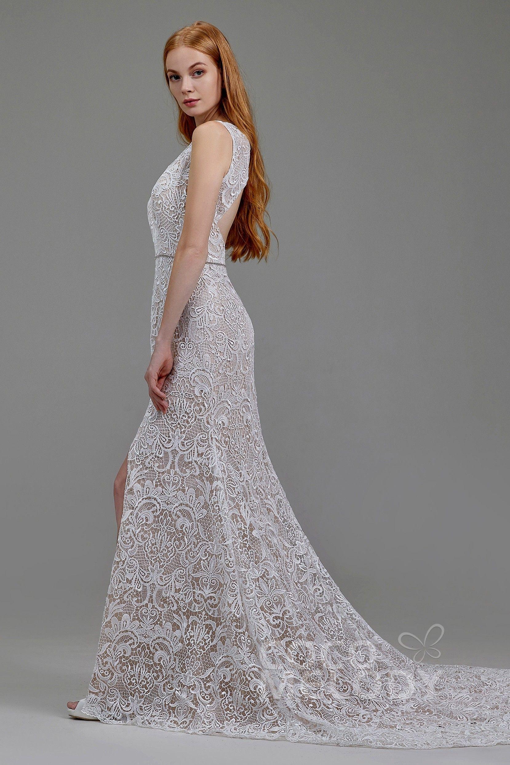 Classic Natural Court Train Lace Wedding Dress Ld5782 Cocomelody Cocomelody Weddingdress Br Wedding Dresses Lace Ball Gowns Wedding Classic Wedding Dress