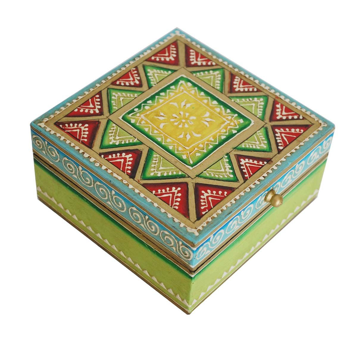 Treasured Legacy Hand Painted 5x5 Wooden Jewelry Trinket box