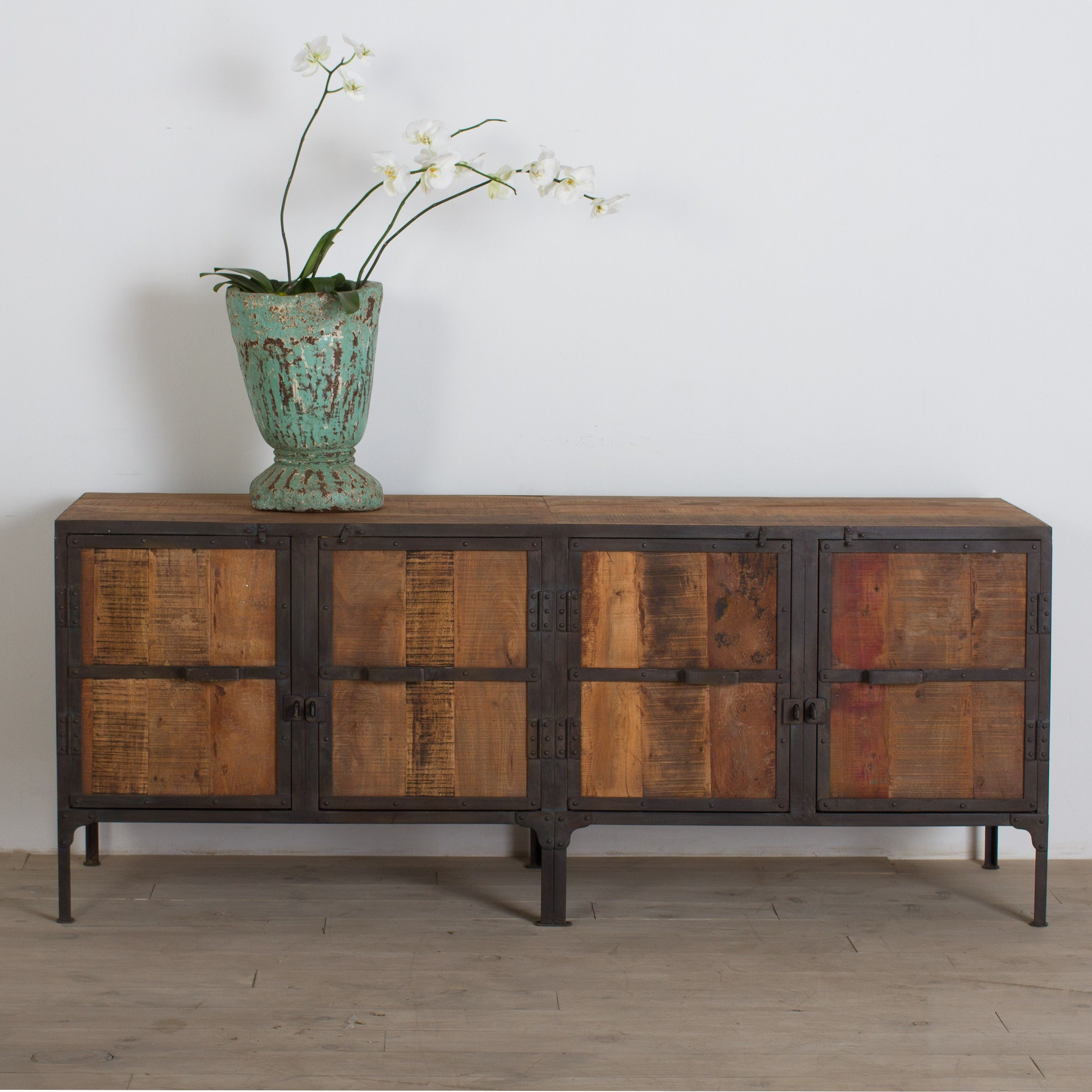 wood and iron furniture. the u0027hyderbadu0027 buffet handcrafted from reclaimed wood and iron furniture g