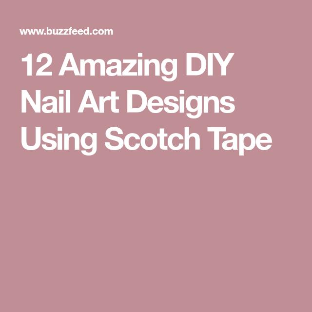 12 Amazing Diy Nail Art Designs Using Scotch Tape Scotch Tape