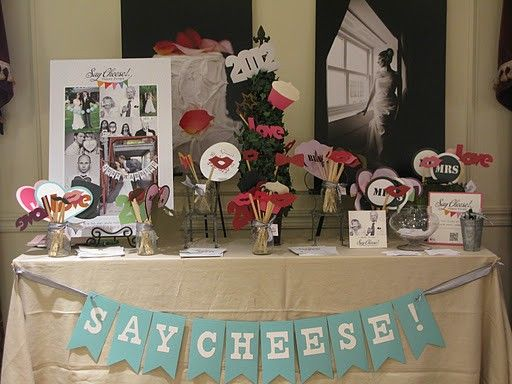Wedding Reception Photo Booth Ideas: Cute Photo Booth Table Ideas. I Plan To Put Together And