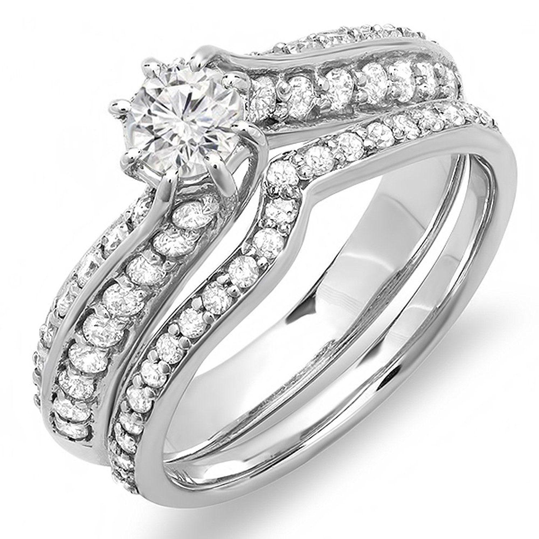 1.00 Carat (ctw) 14k White Gold Round Diamond Ladies