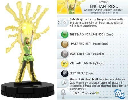 "Enchantress #016 Justice League ""New 52"" Singles DC Heroclix - Justice League \'New 52\' - DC Heroclix - HeroClix - Miniatures"