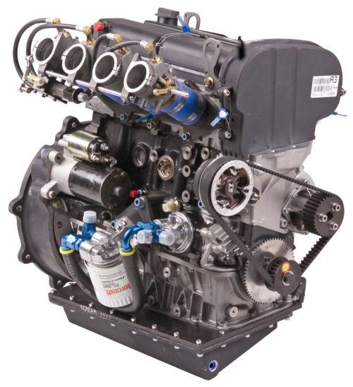 Midget racing engine makes as much horsepower as for How much are car motors